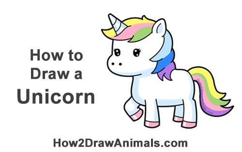 How To Draw A Unicorn (cartoon) Video & Step