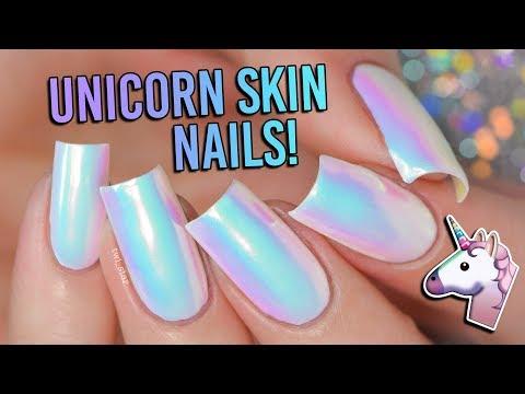 How To Get Unicorn Skin Nails! 🦄 (no Unicorns Were Harmed)