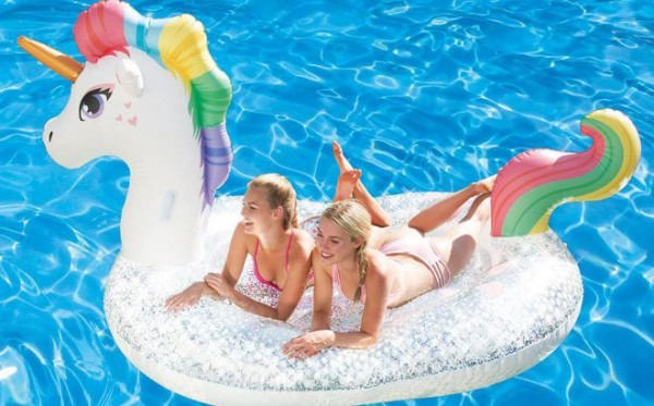 Huge Glitter Sparkles Pool Float Only $24 98 At Sam's Club