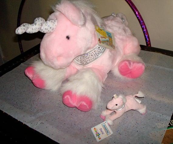 Items Similar To Animal Alley Darla Unicorn Pink Plush Stuffed