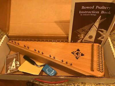 Jaeger Bowed Psaltery Unicorn Strings Solid Wood Instrument