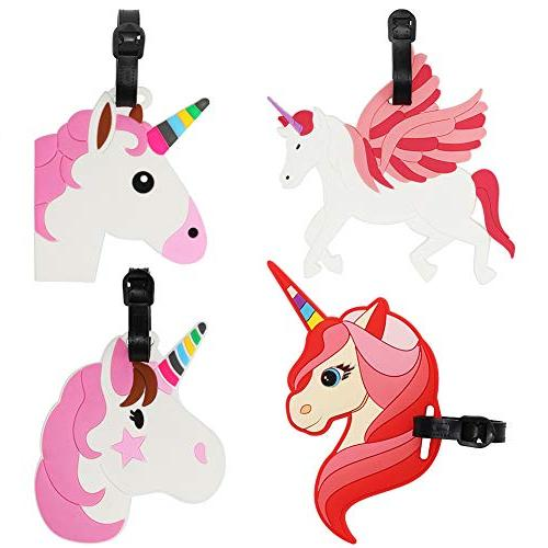 Kids Luggage Tags Unicorn Horse Name Id Labels