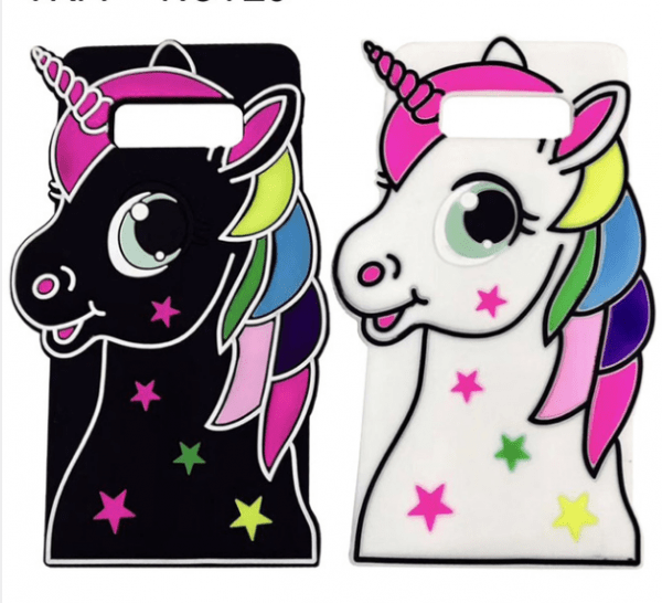 Lovely 3d Cartoon Unicorn Silicon Phone Cases For Samsung Galaxy