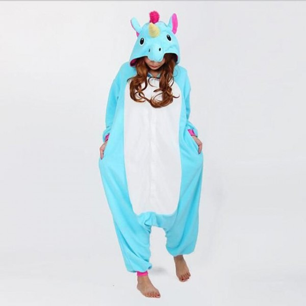 Lovely Flannel Unicorn Full Body Costume Pajamas