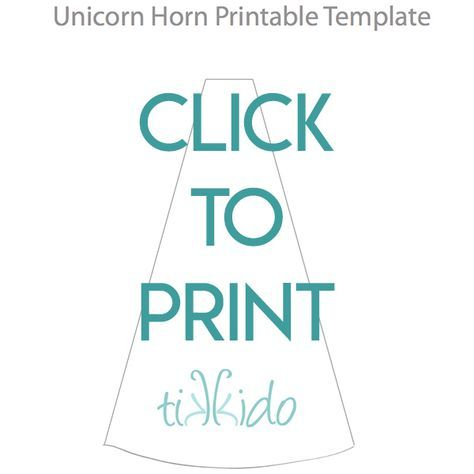 Navigational Image Leading Readers To Free Printable Unicorn Horn