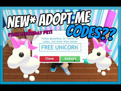New  Adopt Me Codes!  All Working  Free Unicorn