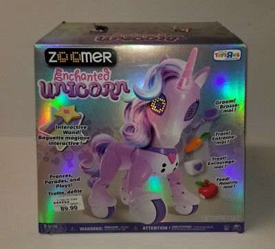 New Zoomer Enchanted Unicorn Interactive Toy Toys R Us Exclusive