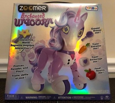 Nib Zoomer Enchanted Unicorn Electronic Interactive Toys R Us