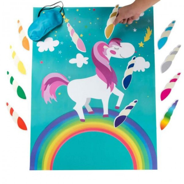 Pin The Horn On Unicorn Games Pin The Tail Game Kids Birthday