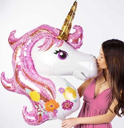 Pink Unicorn Mylar Balloon
