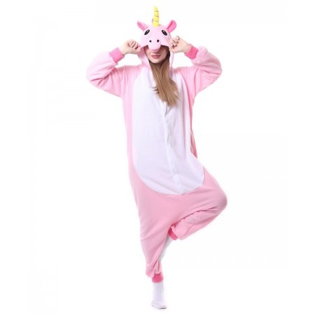 Pink Unicorn Onesie Pajama Animal Costumes For Women & Men
