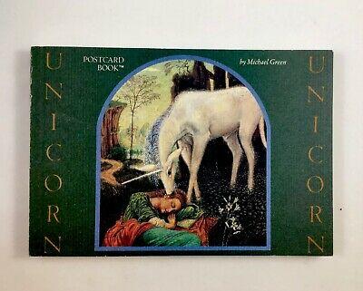 Postcard Bks   Unicorn Postcard Book By Michael Green (1986