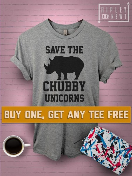Sale Today  Save The Chubby Unicorn T