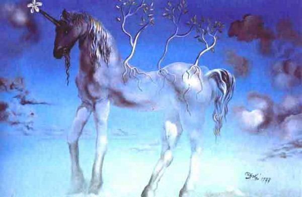Salvador Dali The Happy Unicorn