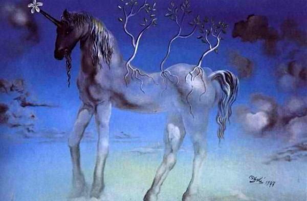 Salvador Dali, The Happy Unicorn, 1977