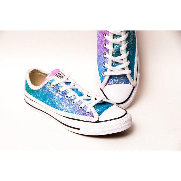 Sequin Rainbow Unicorn Multi Colored Canvas Converse Sneakers Low