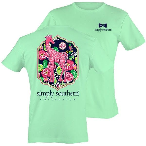 Simply Southern Youth Giraffe Short Sleeve T