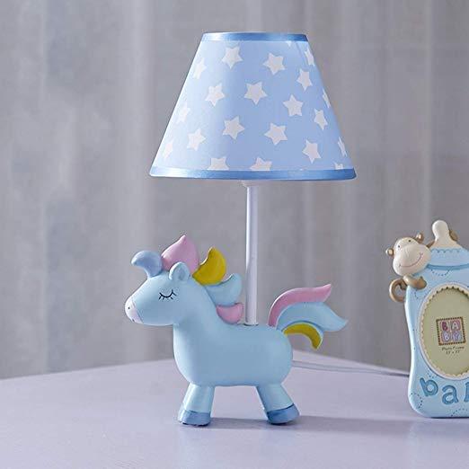 Smc Children's Room Cartoon Unicorn Table Lamp Bedroom Bedside