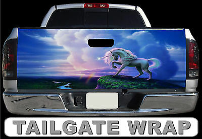 T297 Unicorn Tailgate Wrap Decal Sticker Vinyl Graphic Bed Cover