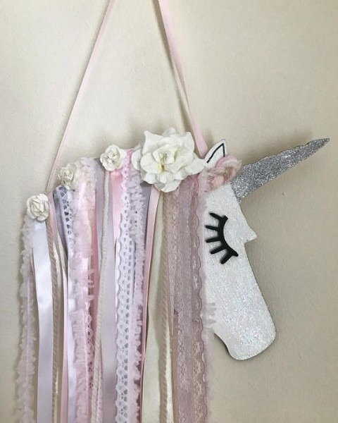 This Is Pear Drop   A Shabby Chic Unicorn Hair Bow Holder Wall