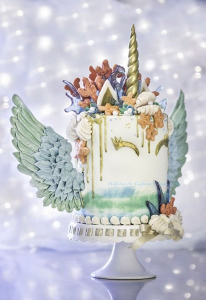 This Is So Pretty  I Wouldn't Even Eat It  Mermaid Unicorn Cake