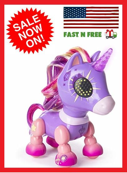 Tiny Unicorn Toy For Girls Kids Children Robot Pet For 4 5 6 7 8 9
