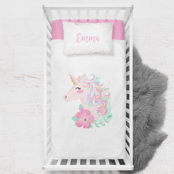 Toddler Bedding Girls Room Unicorn Toddler Duvet Cover