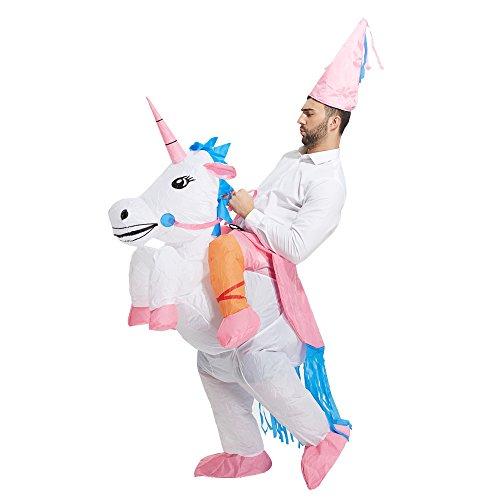 Toloco Inflatable Adult Unicorn Rider Halloween Costume