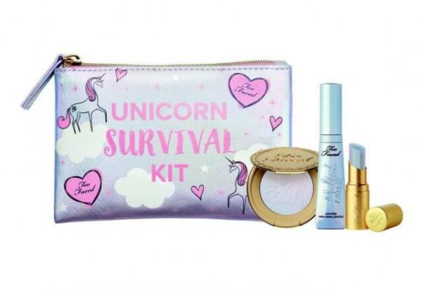 Too Faced Unicorn Survival Kit 4pc Mystical Lip & Highlighter Set