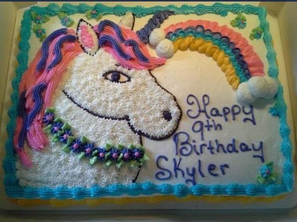 Unicorn Birthday Cake Buttercream Icing