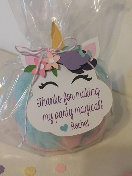 Unicorn Birthday Party Favor Tags Soft Whimsical Colors And