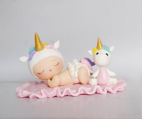 Unicorn Cake Topper Unicorn Baby Shower Cake Decoration