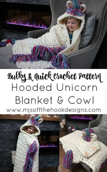 Unicorn Crochet Hat Scarf Pattern Is A Stunner