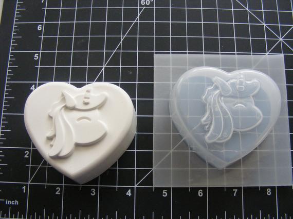 Unicorn Heart Mold Plastic Mold For Bath Bombs Soap Mold