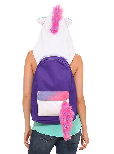 Unicorn Hooded Backpack