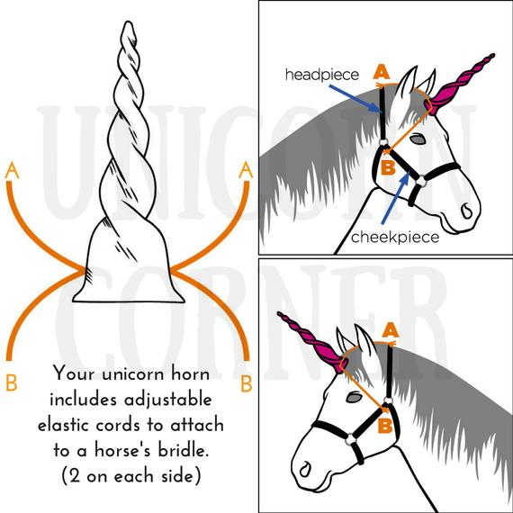 Unicorn Horn Browband   Unicorn Horn Bridle Attachment