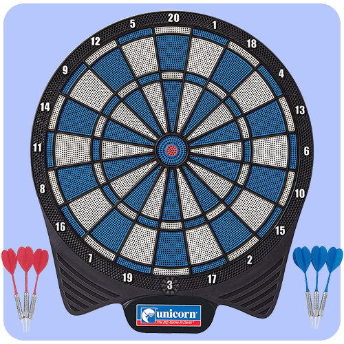 Unicorn Non Electronic Simplified Soft Tip Dartboard Darts Corner