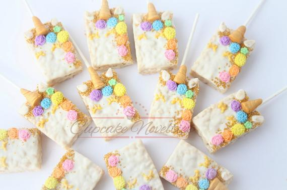 Unicorn Party Unicorn Birthday Favors Unicorn Rice Krispie