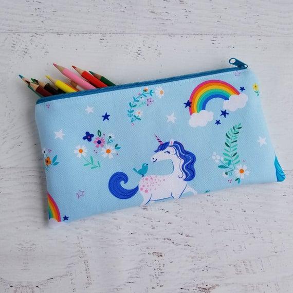 Unicorn Pencil Pouch Unicorn Pencil Case Easter Kids Gifts