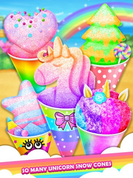 Unicorn Rainbow Snow Cone Desserts Maker