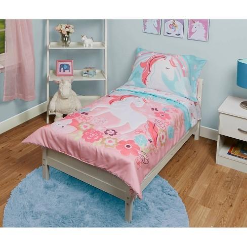 Unicorn Toddler Sheet Set Pink   Target