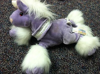 Used Animal Alley Unicorn Purple 14  Plush Stuffed Animal