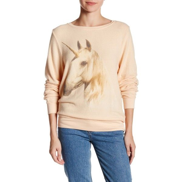Wildfox Unicorn Dream Pullover ($50) ❤ Liked On Polyvore
