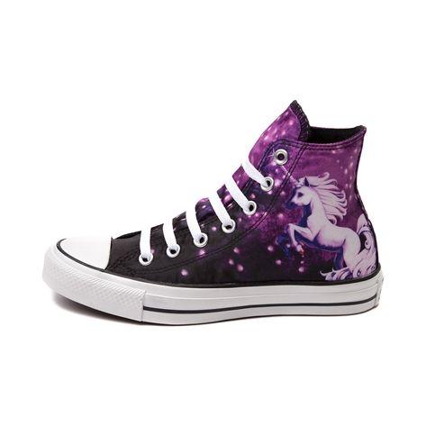 Womens Converse All Star Hi Unicorn Sneakers In Purple