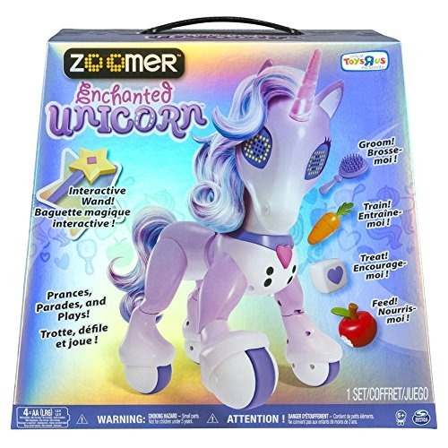 Zoomer Enchanted Unicorn Interactive Toy Toys R Us Exclusive By