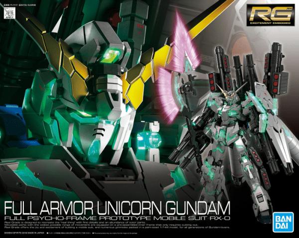 1 144 Scale Rg Full Armor Unicorn Gundam By Bandai