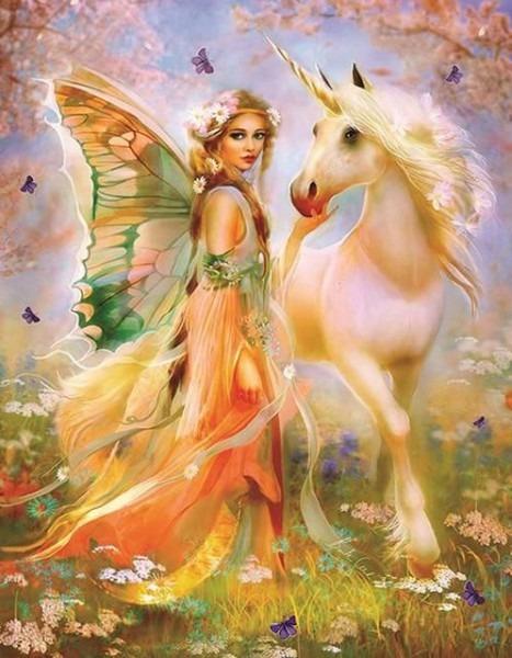 2019 Dream Beautiful Fairy 5d Diy Diamond Painting Kits Uk Vm8369