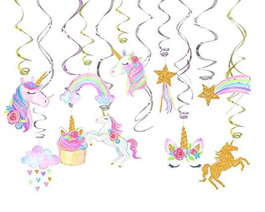 30 Ct  Unicorn Party Decorations