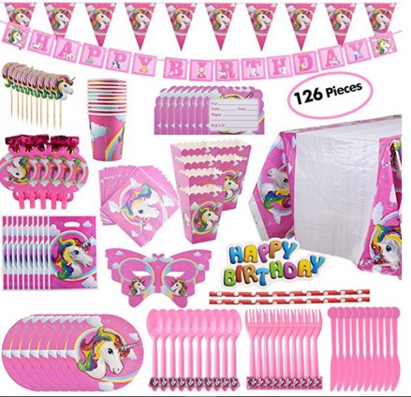 31 Ct  Unicorn Party Decorations