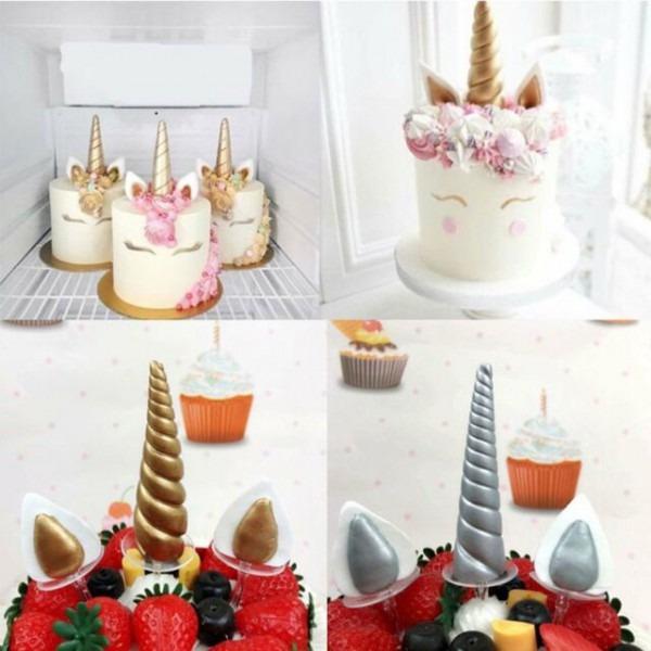 3d Silicone Unicorn Horn Mold Fondant Chocolate Cake Decor Baking